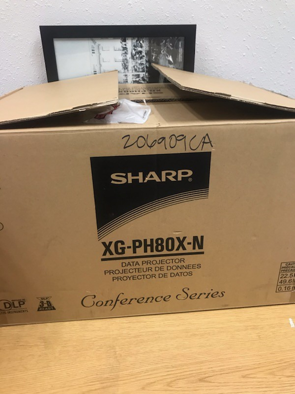 Qty 3 SHARP XG-PH80XK DLP PROJECTORS