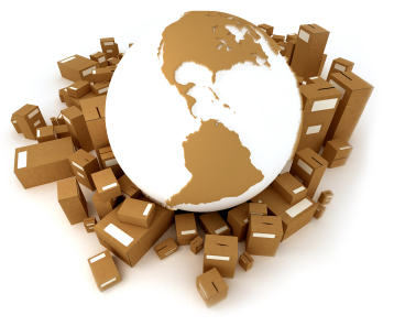 globe and packages